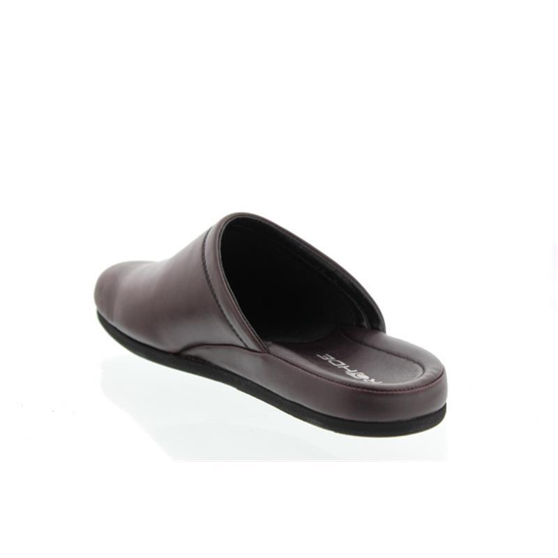 Rohde Herren-Pantolette, Softnappa (Glattleder), weinrot Weite G 1/2 6600-48