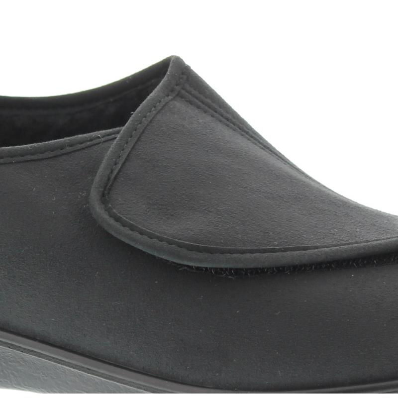 Romika Präsident 85 W, Suede (Romiseta), schwarz, Klettverschluss, Warmfutter 73085-7418-100