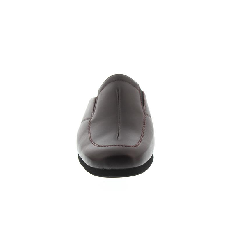 Rohde Damen Hausschuh, Softnappa, weinrot, Weite G, 35 mm Keilabsatz 6142-48