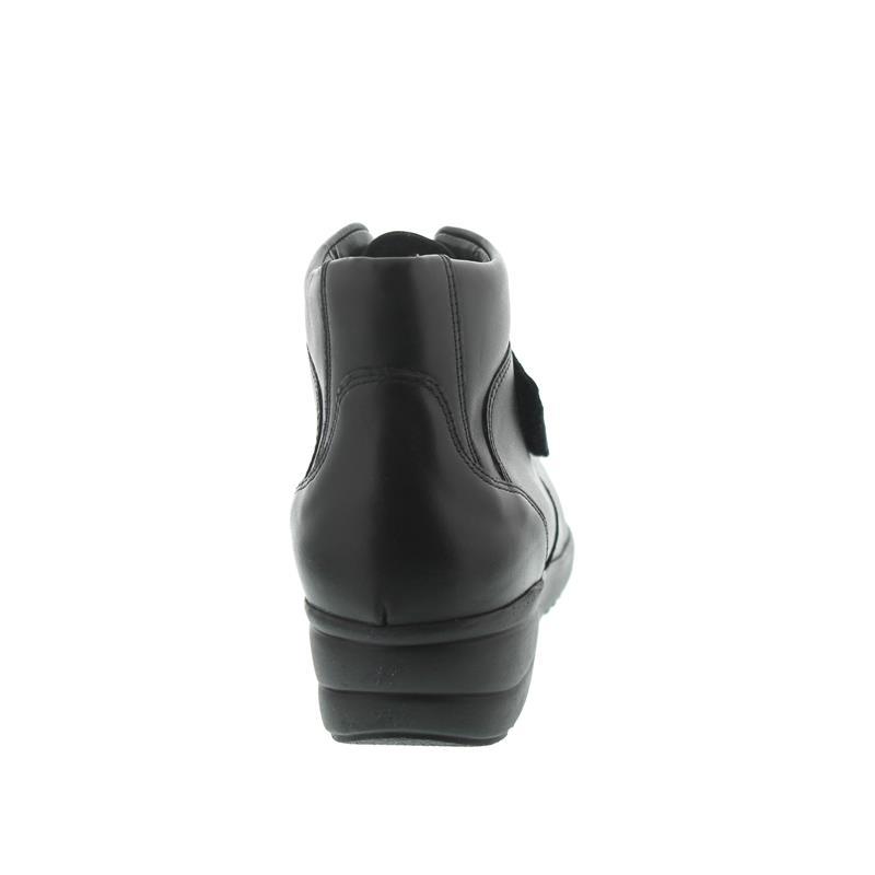 Waldläufer Hissa, Memphis (Glattleder), Klettverschluss, schwarz, Weite H 525006-186-001