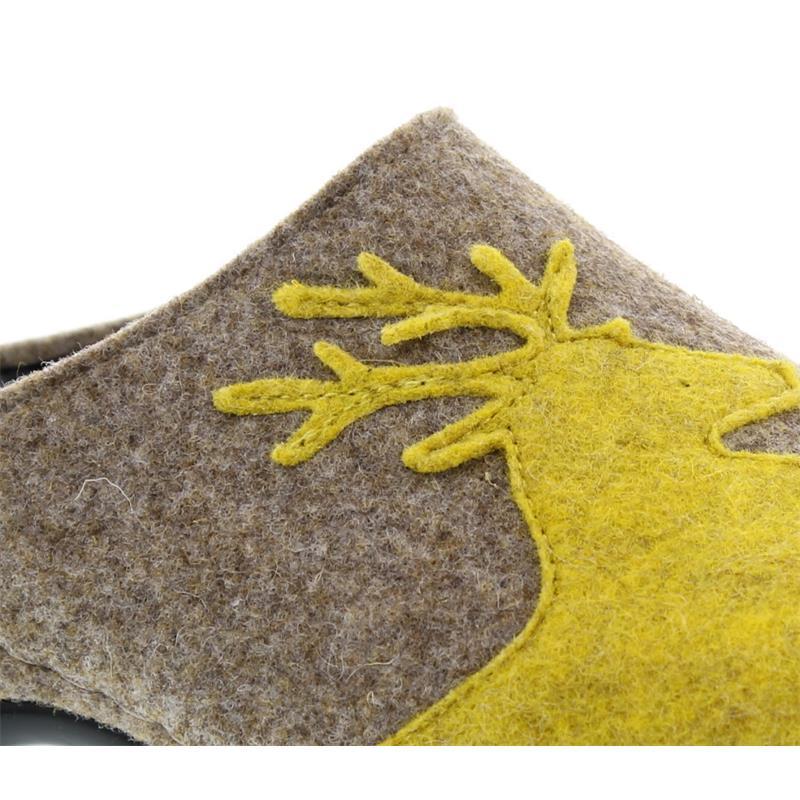 Berkemann Lorrie, beige / Hirsch, Filz, Hausschuh 1034-781