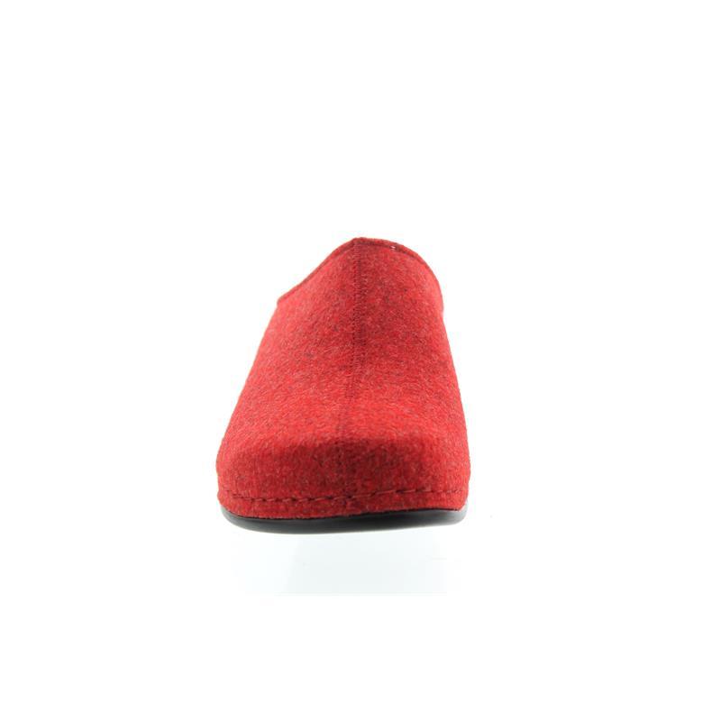 Berkemann Florina, rot, Filz, Hausschuhe, Weite F, Wechselfußbett 1025-235