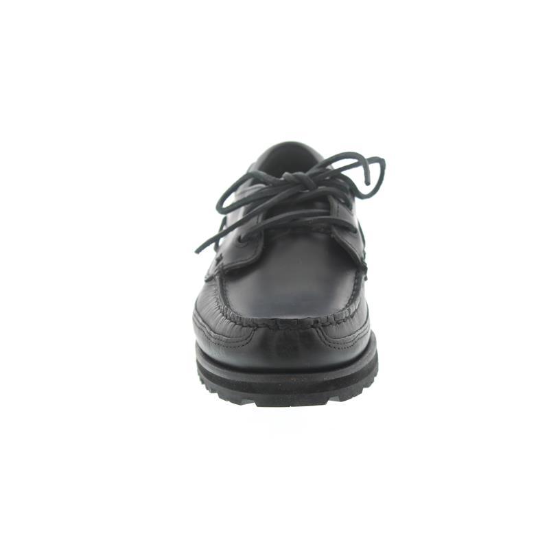 Sebago Vershire Three Eye, Black Oiled Waxy Leather 710-063