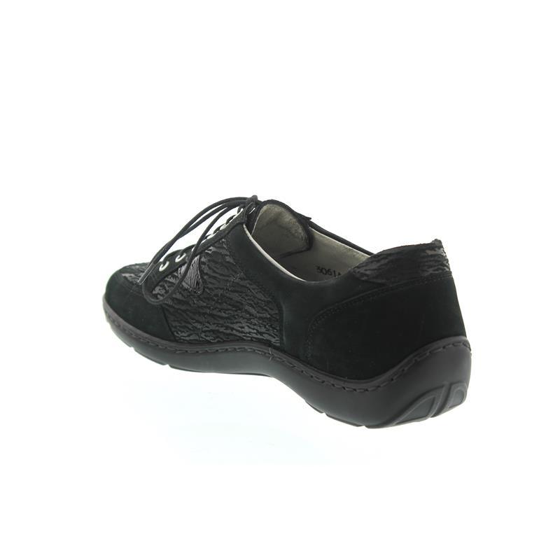Waldläufer Henni, Pro-Aktiv-Fußbett, Nubuk k. schwarz,Weite H 496023-320-001