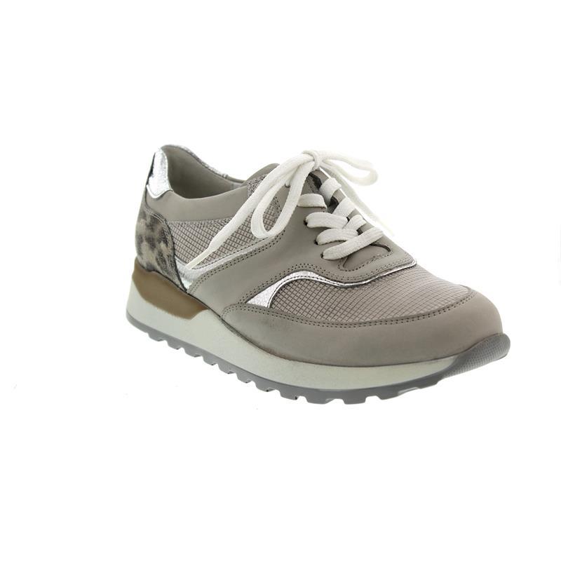 Waldläufer Hiroko, Sneaker, Glattleder kombi., stein silber corda, Weite H 364018 700 070