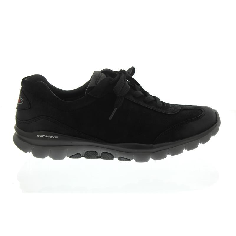 ffaa6d08190ece Gabor Rollingsoft Sneaker 76.965.47 in Schwarz Nubuk Oil
