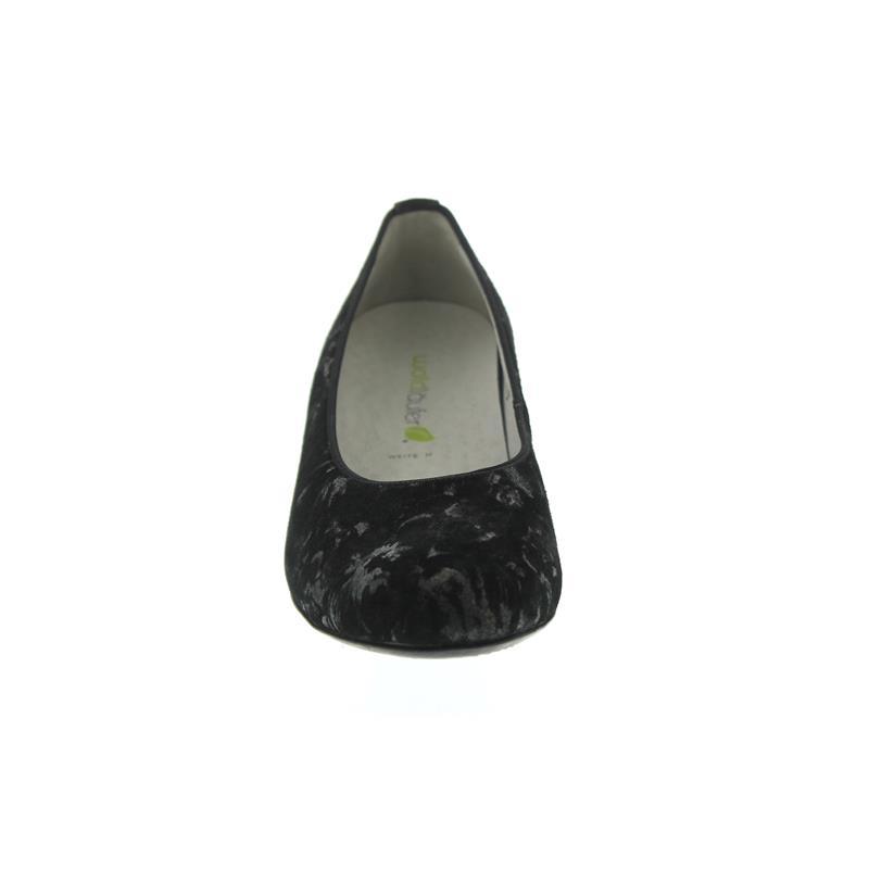 Waldläufer Hilaria, Pumps, Carmen (Nubukled. bedruckt), schwarz, Weite H 358501-169-001