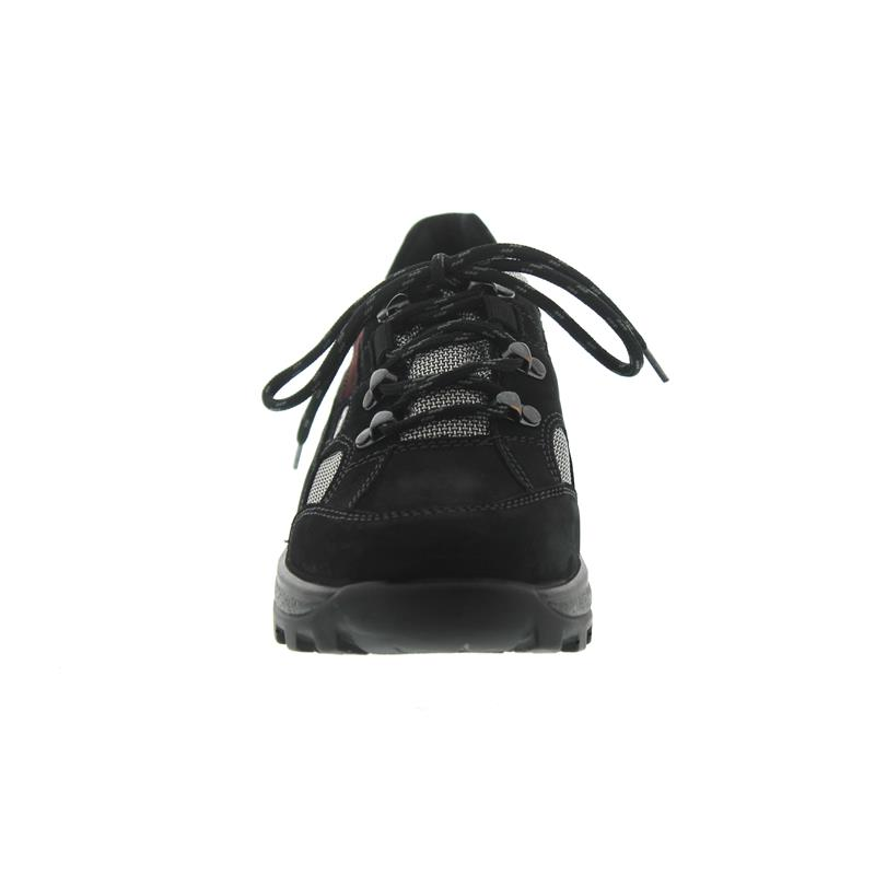 Waldläufer Holly, schwarz/brunello/silber, Nubuk / Torrix, Waldläufer-Tex, Weite H 471240-494-867