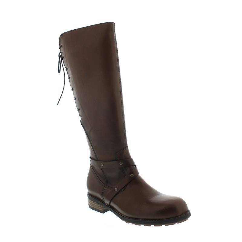 Wolky Belmore, Velvet leather (Glattleder), Cognac, Schnürung und Reißverschluss 04433-20430