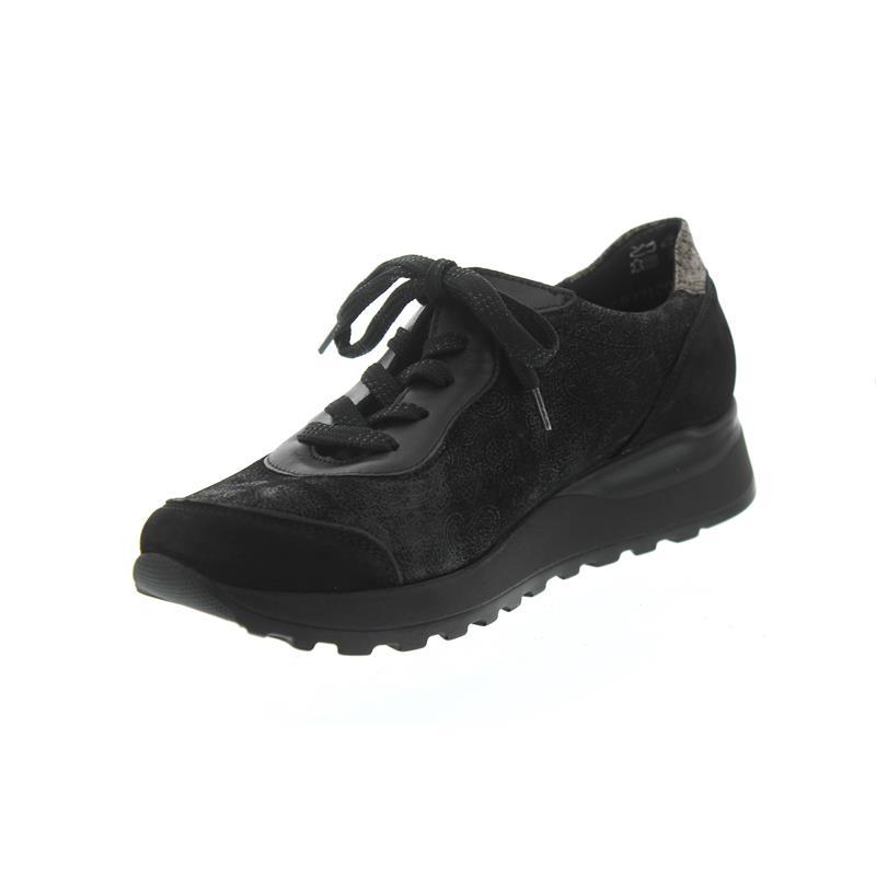 save off b6ad9 23848 Waldläufer Hiroko-Soft, Sneaker, Nubukleder / Stretch kombi., schwarz,  Weite H H64001-412-771