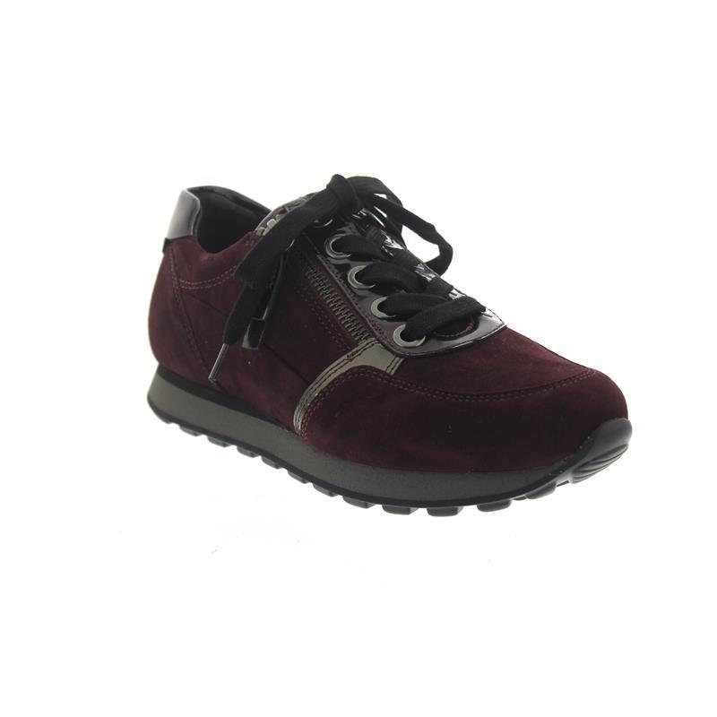 LackNew Merlot Comfort SneakerSamtchevreau York ReißverWeite Und G SteelSchnürung Gabor eEIDYH9W2