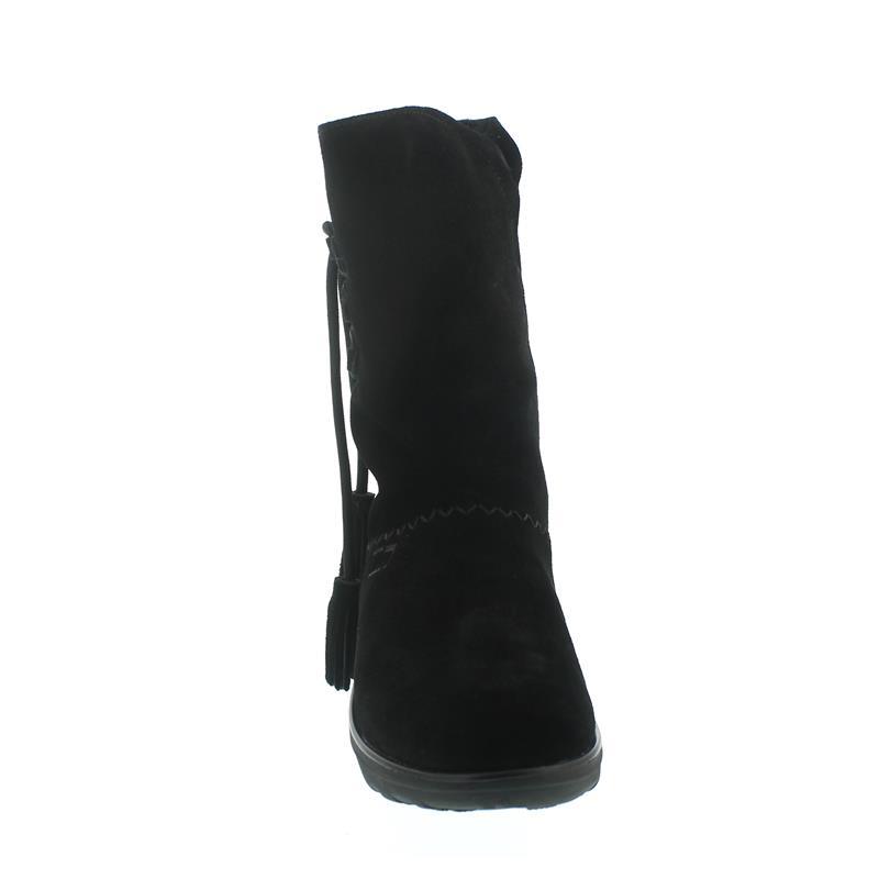 FitFlop Mukluk High Boot With Tassels, Warmfutter, Veloursleder, Schwarz 189-001, Größe 39