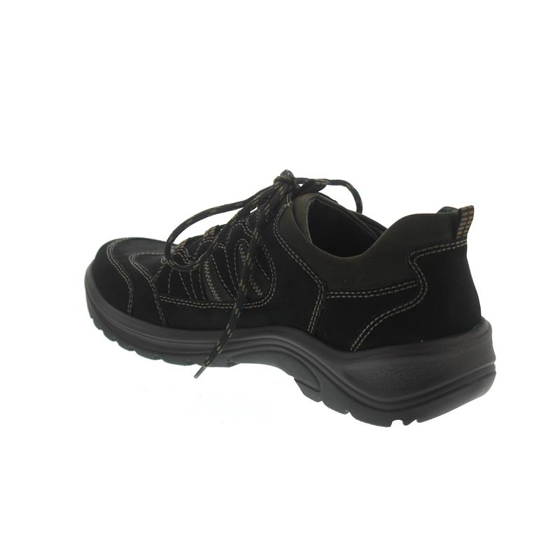 Waldläufer Hayo, Outdoor Halbschuh, Nubukleder, schwarz braun, Weite H 415007 691 742