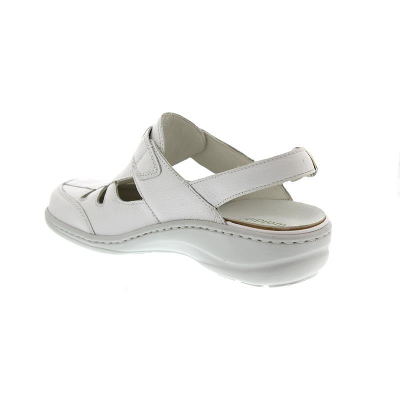 klassische Schuhe zarte Farben schön billig Waldläufer Heria, Clog, Pigalle (Glattleder), weiss, Klettverschluss, Weite  H 408704-172-150