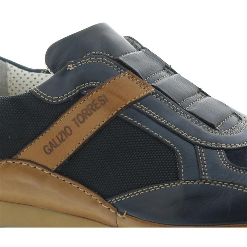 Galizio Torresi Sneaker, Foulard Blu - Tessuto Blu, navy/marine, Wechselfußbett 412474