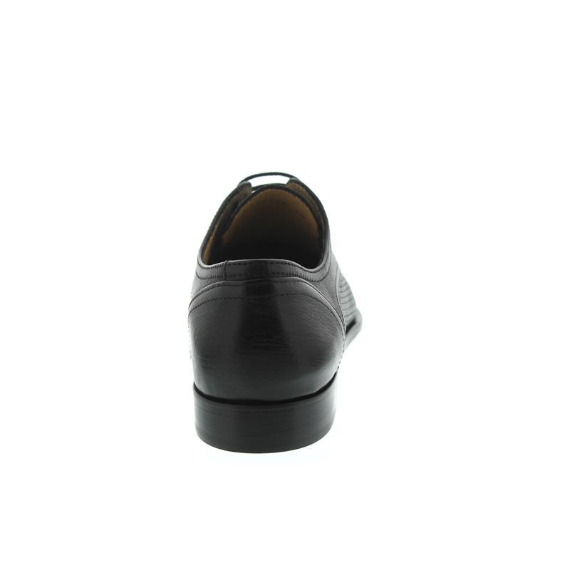 Galizio Torresi Schnürschuh, Ledersohle mit Gummiintarsie, Flechtoptik, schwarz 411434S