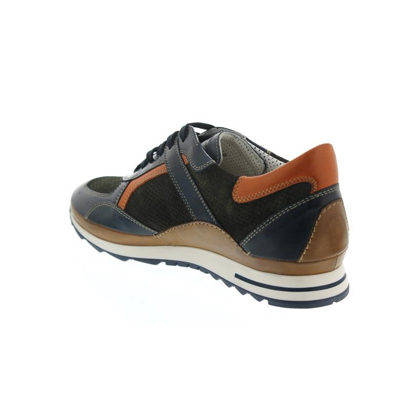 Galizio Torresi Sneaker, Glattleder/Nubuk/, Blue/Marrone, Wechselfußbett 413164A