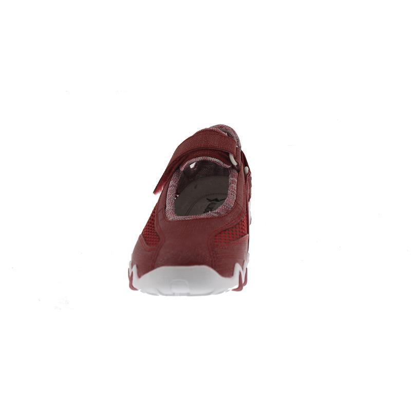 Allrounder Niro, Klettverschluss, Jeanstyle 48/Open Mesh 12, Rosso / Cool Grey N819