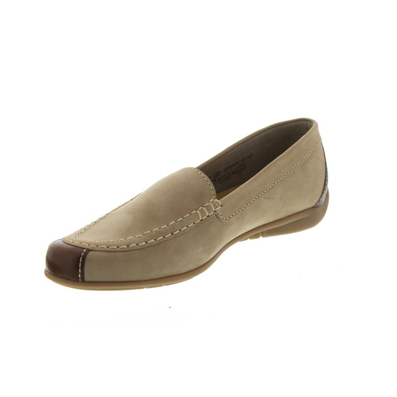 outlet store 64dc1 371b4 Gabor Slipper, Best-Fitting, Nubuk/Kid, visone/coca, Wechselfussbett, Weite  F 83.260.12
