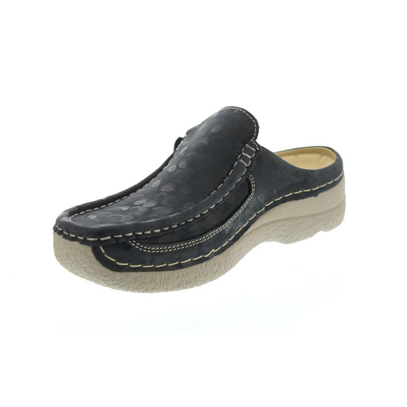 Wolky Comfort Clogs Roll Slide - 12820 Denim Nubukleder - 39 v1ySUGj