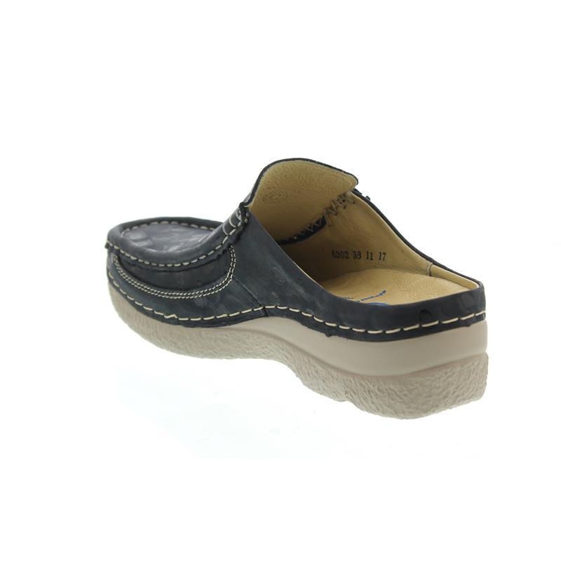 Wolky Comfort Clogs Roll Slide - 12820 Denim Nubukleder - 39 liliL2Eknq