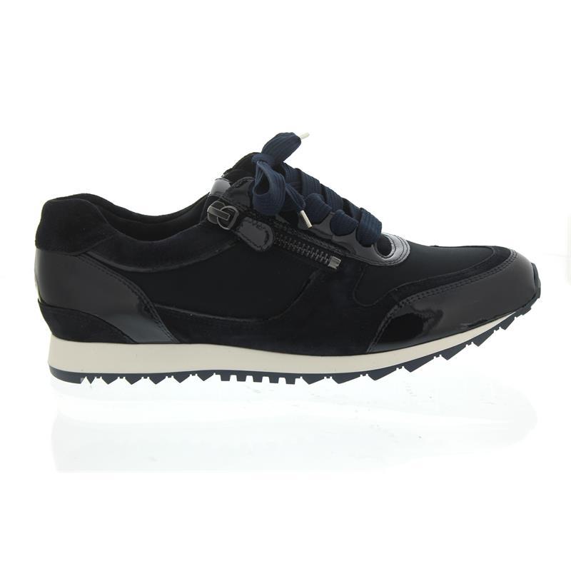 new concept 14574 caf4c Hassia Barcelona, Sneaker, Dorelack-Leder, ocean, Vario-Fussbett, Weite H  301914-3000