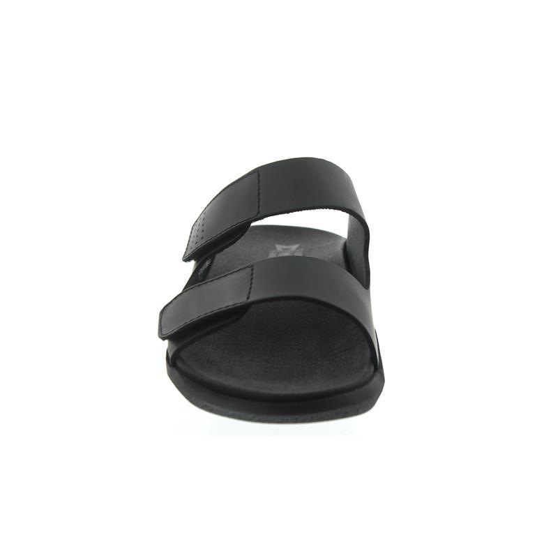 Mephisto Clayton, Pantolette, Klettverschluss, schwarz, Scratch 3400