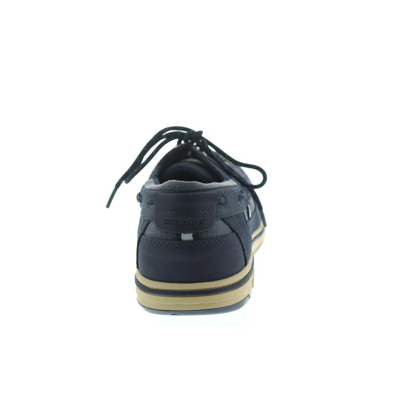 Sebago Triton Three-Eye, Full-Grain Leather, Blue Navy 70004Z0-908