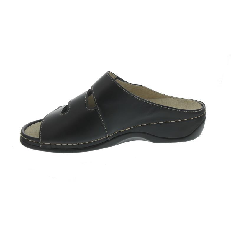 Berkemann Andrea, Pantolette, Leder/Stretch, schwarz, Wechselfußbett 1013-906