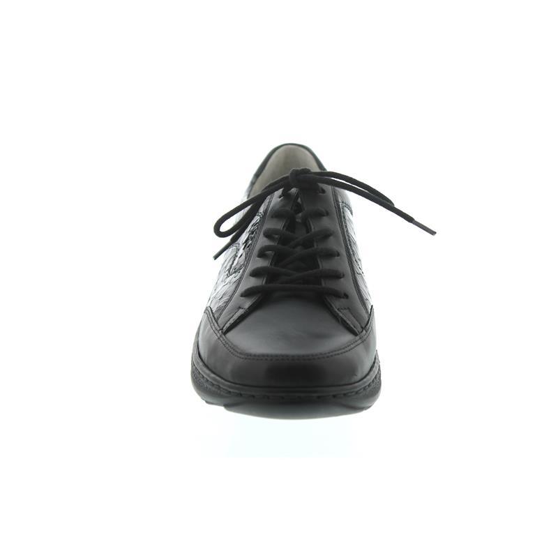 Waldläufer Helli, Dynamic-Sohle, Glatt- / Lackleder, schwarz/stahl, Weite H 502027-508-006