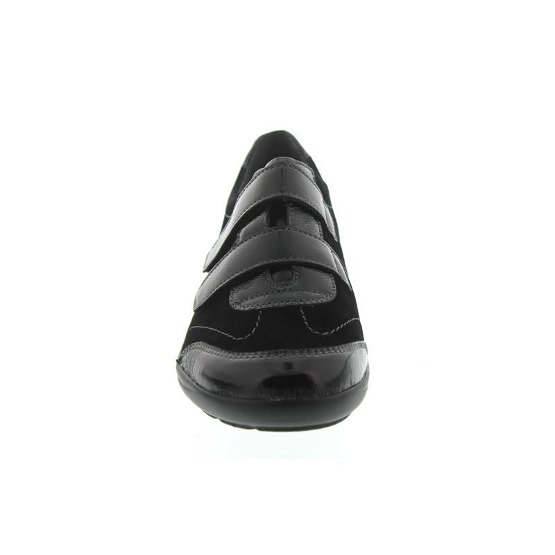 Semler Birgit, K-Lack/Samt-Chevro, schwarz, Vario-Fussbett, Weite H B6015-511-001