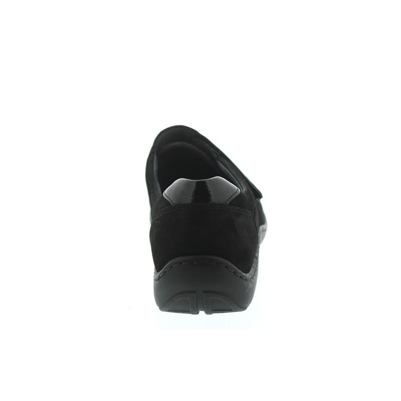 Waldläufer Henni-Soft, Ortho-Tritt, Denver (Nubukled.) / Stretch, schwarz, Weite H 496H31-350-001