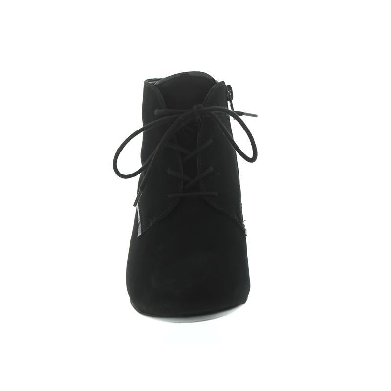 Waldläufer Hilaria, Denver / Taipei (Nubuk / Lack), schwarz, Schnürung und Reißver., Weite H 358804
