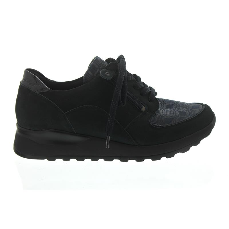 cheap for discount f72ab 51573 Waldläufer Hiroko-Soft, Sneaker, Nubuk/Lack/Stretch, ocean notte, Weite H  H64007-309-386