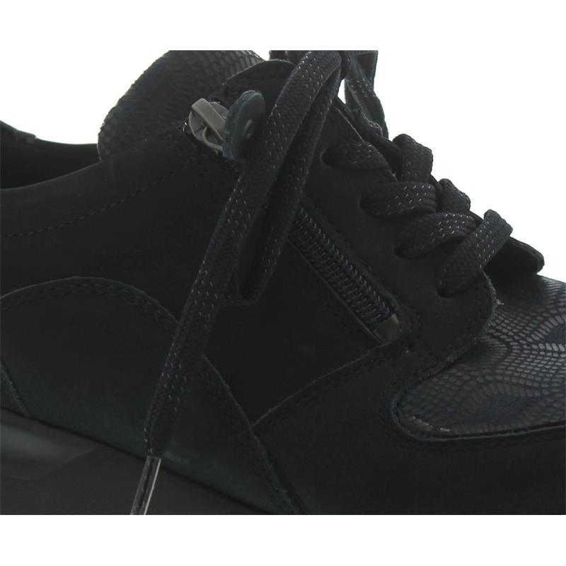 Waldläufer Hiroko-Soft, Sneaker, Nubuk/Lack/Stretch, ocean notte, Weite H H64007-309-386