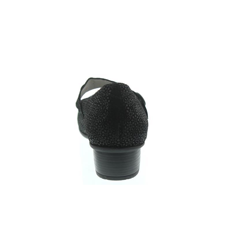 Waldläufer Haifi, Pumps, Tago (bedr. Nubukleder), schwarz, Klettverschluss, Weite H 967301-117-001