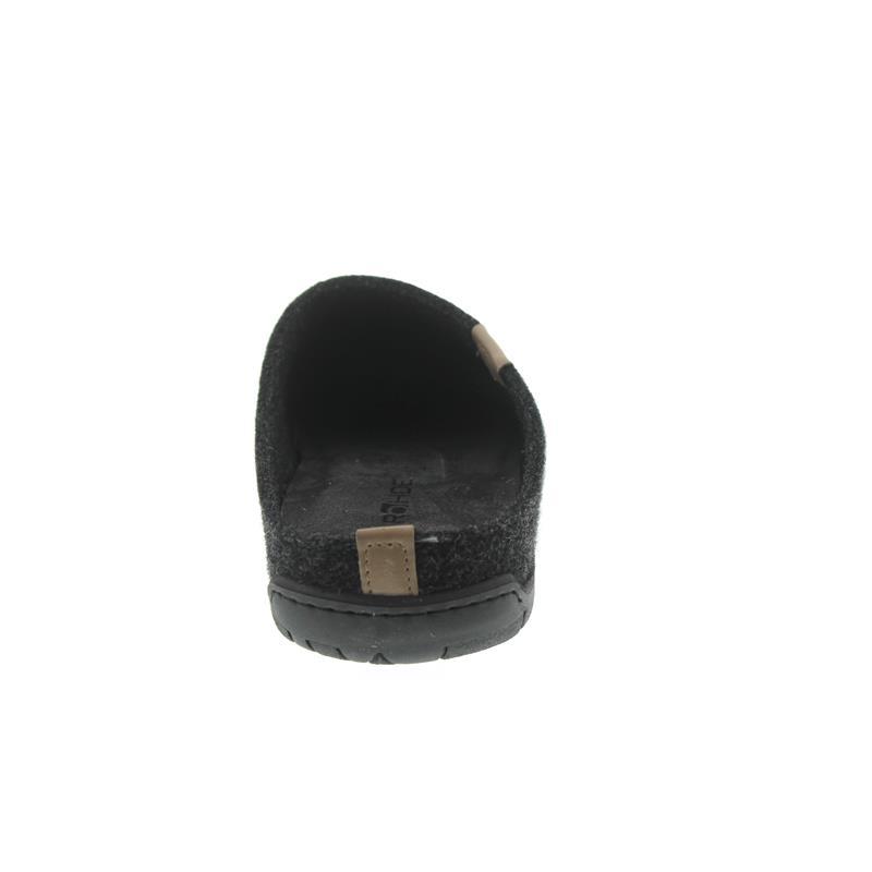 Rohde Herren Pantolette, Softfilz, lava (dunkelgrau), Wechselfußbett, Weite G 6650-82