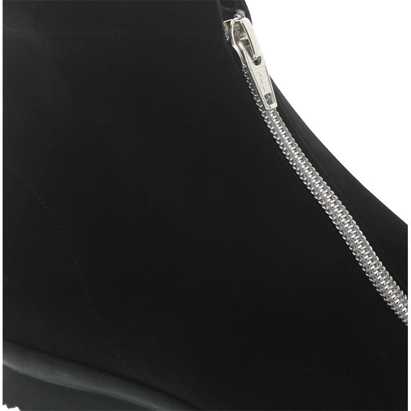 Arche Barwol, Nubuck, Noir / Argento (Nubukleder schwarz), Reißverschluss in silber, Bootie