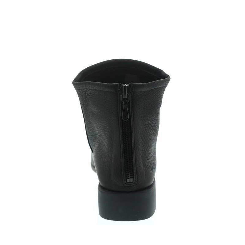 Arche Twinny, Stiefelette, Cerf pleine fleur (Hirschleder) Noir, Reißverschluss