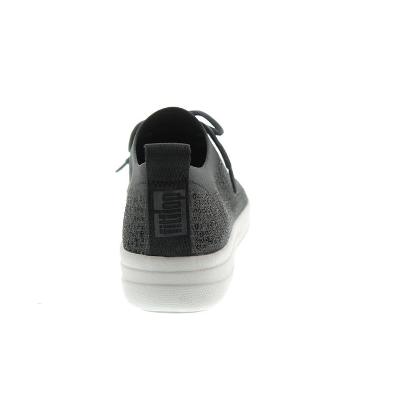 83d58509c9b1 FitFlop F-Sporty Uberknit Sneaker-Crystal in grey Nylon Material ...