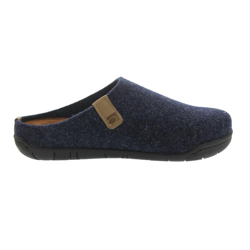 Rohde Herren Pantolette, Softfilz, indigo (blau), Wechselfußbett, Weite G 6650-51