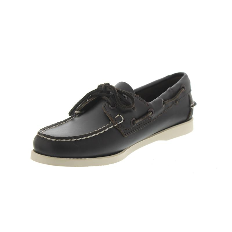 Sebago Docksides, Full-Grain Leather, Dark-Brown, Women 7000530-901