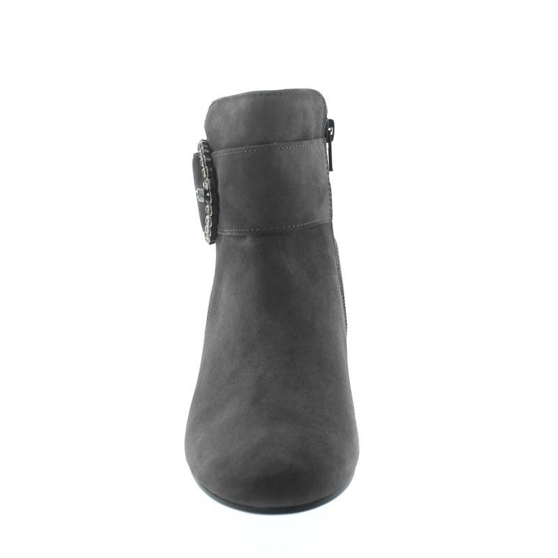 Gabor Stiefelette, Samtchevreau (Micro), dark-grey, Best-Fitting, Weite F 91.694.19