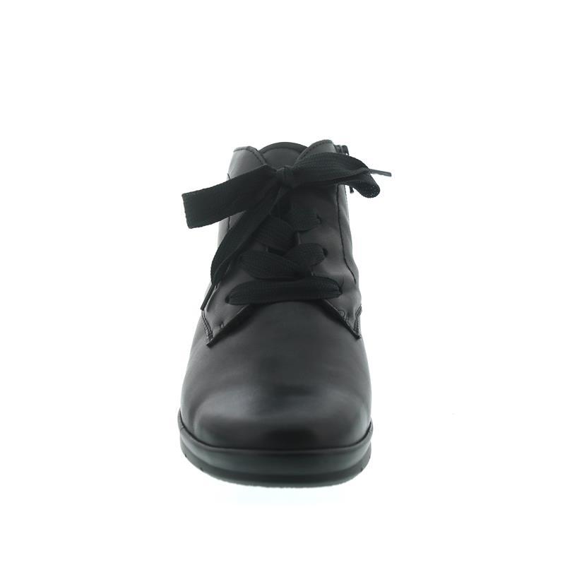 Semler Xenia-Stf., Soft-Nappa, schwarz, Schnürung u. Reißv., Weite H, Vario-Fussbett X10156-012-001