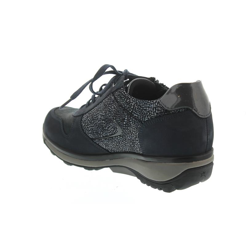 Xsensible Jersey Sneaker, Stretch-Leather, Navy Secret, Vario-Fussbett, Weite GX 30042.2.261