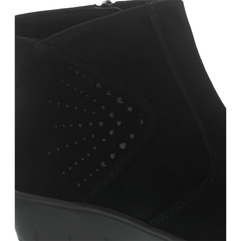 Semler Judith, Samt-Chevro, schwarz, Reißverschluss, Weite H, Vario-Fussbett J75553-042-001