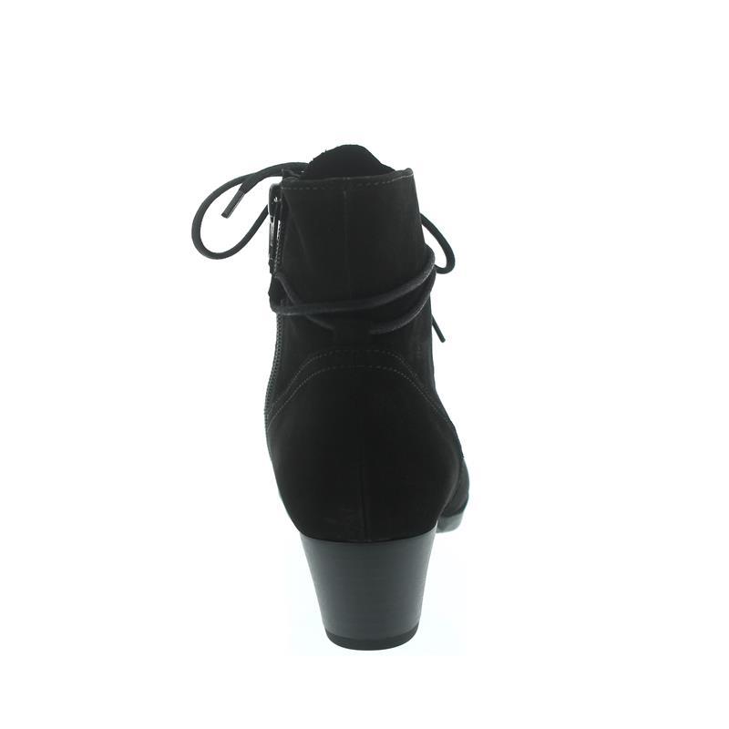 Gabor - Comfort Athen, Stiefelette, Nubuk Lavato, schwarz (Micro), Wechselfußbett, Weite G 96.635.47