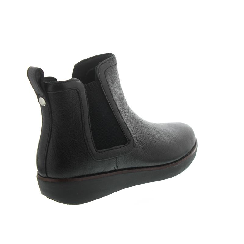 FitFlop Chai, Chelsea Boots, Black, Leather N15-001