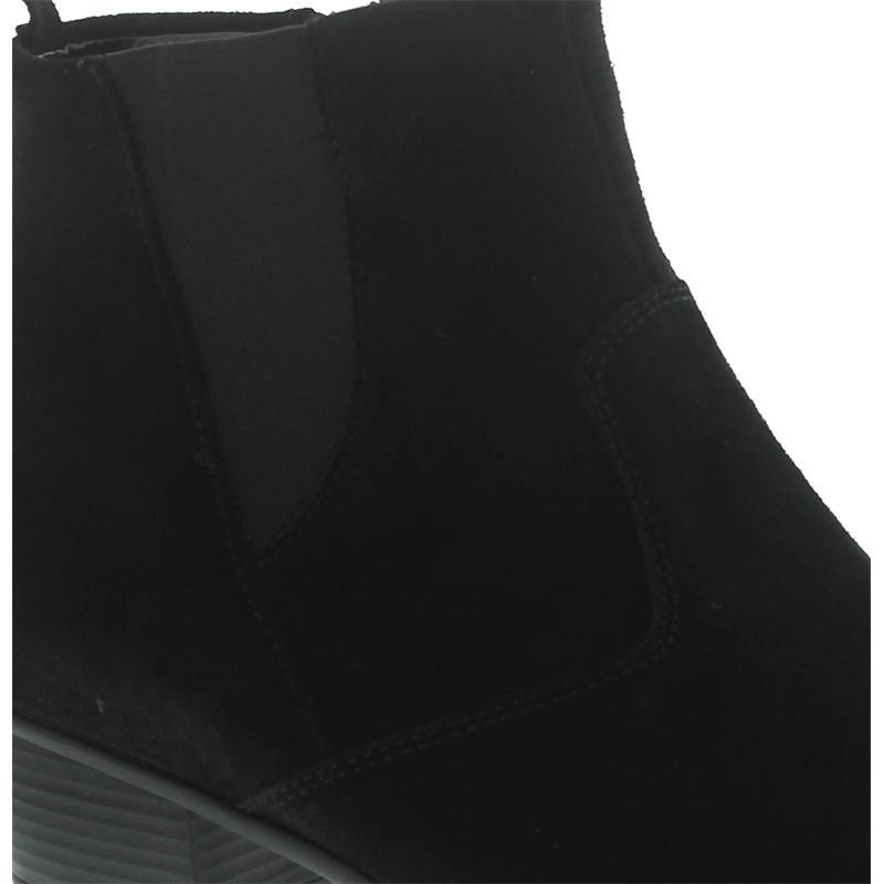 Waldläufer Haifi, Bootie, Velour, schwarz, Weite H 967807-130-001