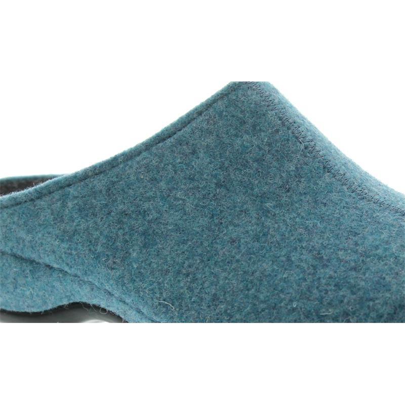 Berkemann Florina, himmelblau, Filz, Hausschuhe, Weite H, Wechselfußbett 1025-304